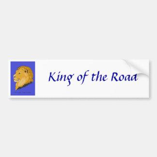 Rey de leones etiqueta de parachoque