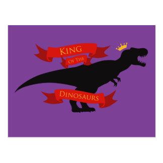 Rey de los dinosaurios postal