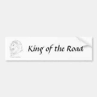 Rey de los leones pegatina de parachoque