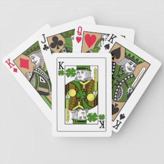 Rey de los tréboles afortunados (gorra verde) barajas de cartas