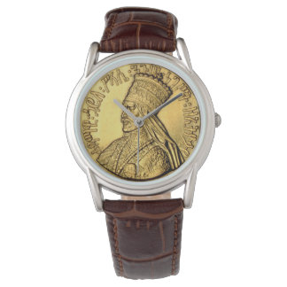 Rey de oro antiguo Design del reloj de Haile