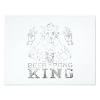 Rey de Pong de la cerveza Invitación 10,8 X 13,9 Cm