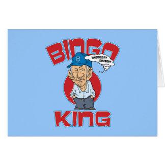 Rey del bingo tarjeta de felicitación