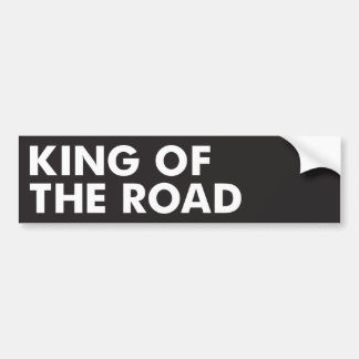 Rey del camino pegatina para coche