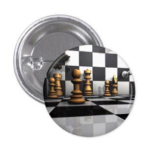 Rey del juego del ajedrez chapa redonda de 2,5 cm