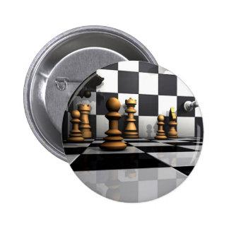 Rey del juego del ajedrez chapa redonda de 5 cm