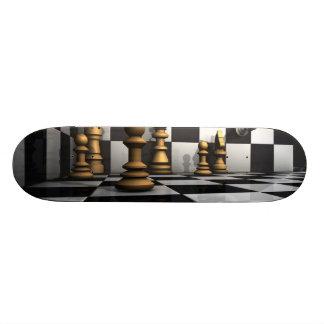 Rey del juego del ajedrez tabla de skate