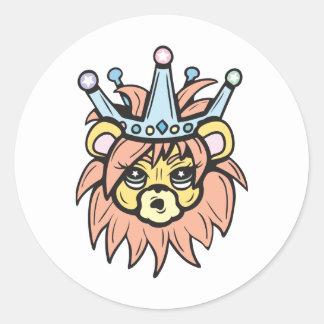 ¡Rey del león!  ¡Personalizable! Pegatina Redonda