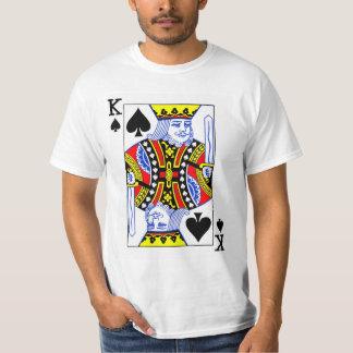 Rey del naipe de las espadas camiseta