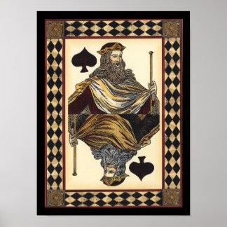 Rey del naipe de las espadas por el estudio de póster