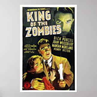 Rey del poster de los zombis
