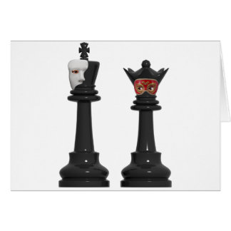 Rey fantasma del ajedrez y tarjeta de cumpleaños