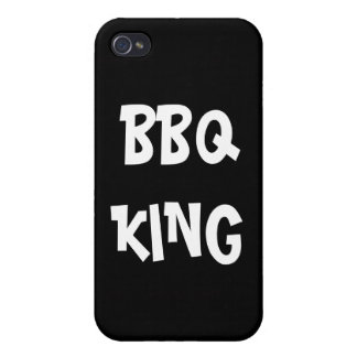 Rey Funny del Bbq iPhone 4 Cárcasas