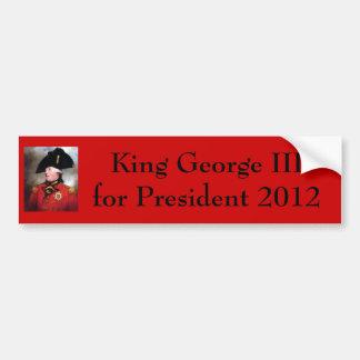 rey-George-iii, rey George III para el presidente… Pegatina Para Coche