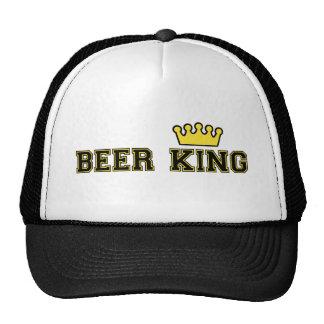 Rey Hat de la cerveza con la corona Gorras