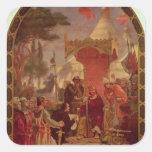 Rey Juan Granting la Carta Magna en 1215, 1900 Pegatina Cuadrada