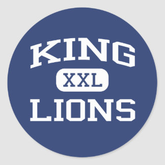 Rey - leones - rey High School secundaria - Tampa Etiquetas Redondas