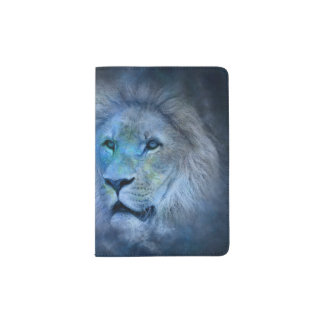Rey Modern Dark-blue Passport Holder del león Porta Pasaportes