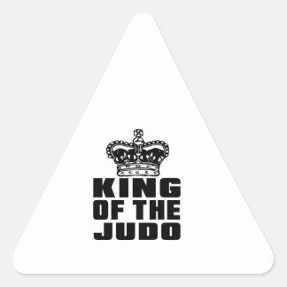 REY OF THE JUDO PEGATINA TRIANGULAR