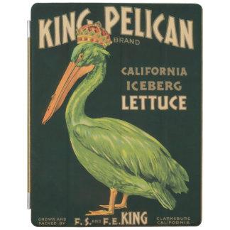 Rey Pelican Lettuce Vintage Label Cubierta De iPad