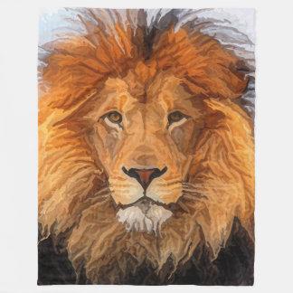 Rey pintado del león del gato grande de la manta