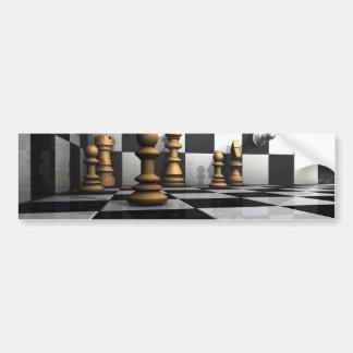 Rey Play del ajedrez Pegatina Para Coche