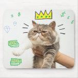 Rey rico Cat Alfombrillas De Ratones