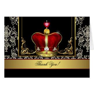 Rey rojo negro príncipe Thank You Cards de la coro Tarjeta Pequeña