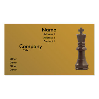 Rey solitario plantilla de tarjeta de negocio