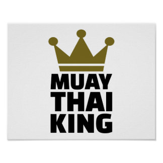 Rey tailandés de Muay Póster