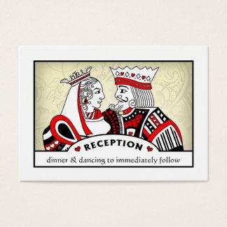 Rey y reina - 3,5 x 2,5 tarjetas de la recepción