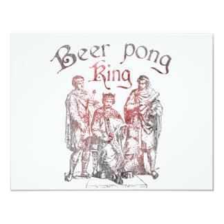 Reyes de Pong de la cerveza Invitación 10,8 X 13,9 Cm