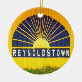 Reynoldstown, Atlanta, Georgia, Felices Navidad Adorno Navideño Redondo De Cerámica