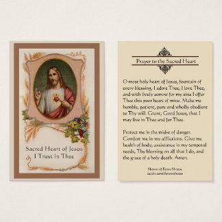 Rezo al corazón sagrado de la tarjeta santa de