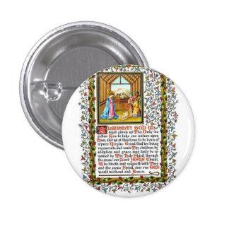 Rezo cristiano con natividad chapa redonda 2,5 cm