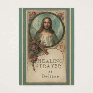 Rezo curativo en la tarjeta santa del corazón