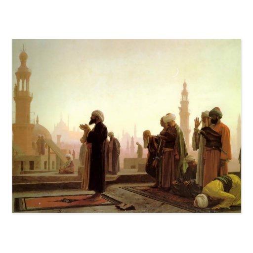 Rezo de Jean-León Gerome- en El Cairo Tarjeta Postal