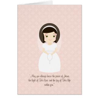 Rezo de la comunión tarjeta de felicitación