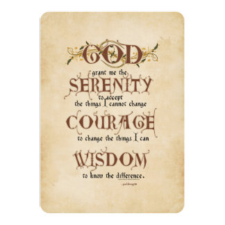 Rezo de la serenidad: Antigüedad inglesa vieja, Invitación 12,7 X 17,8 Cm
