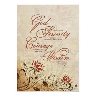 Rezo de la serenidad: Floral oxidado, Invitación 12,7 X 17,8 Cm