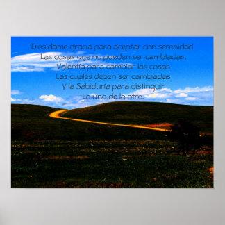 Rezo de la serenidad/poster/de motivación póster