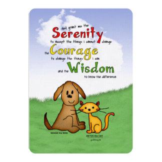 Rezo de la serenidad: Rehabilitación y Detox, Invitación 12,7 X 17,8 Cm