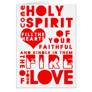 Rezo del Espíritu Santo Tarjeta De Felicitación