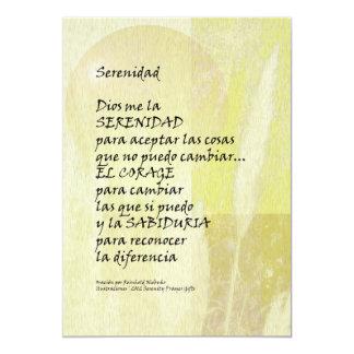 Rezo Pampa de la serenidad en español Invitación 12,7 X 17,8 Cm