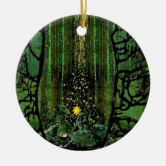 Rezo para los bosques adorno de cerámica