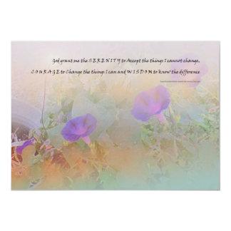 Rezo sereno de la serenidad de las correhuelas invitación 12,7 x 17,8 cm