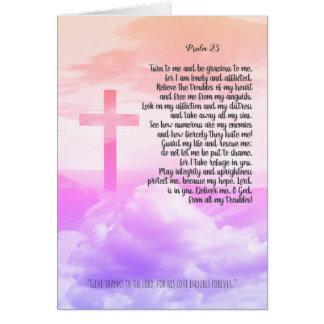 Rezo, tarjeta cristiana personalizada del salmo 25