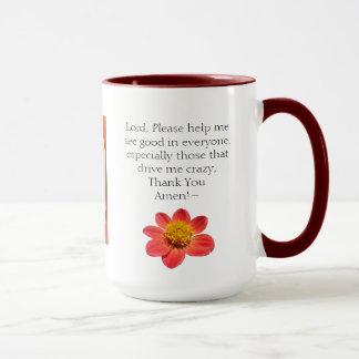 rezos combinados y café de la taza del chisme 15oz