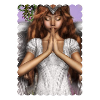 Rezos del ángel invitación 12,7 x 17,8 cm