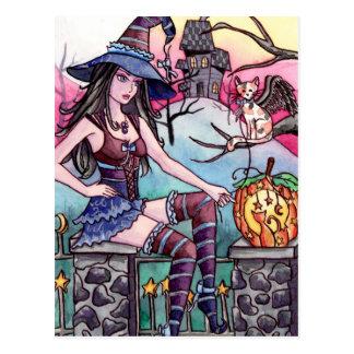 Rhea - postal de la bruja de la casa encantada